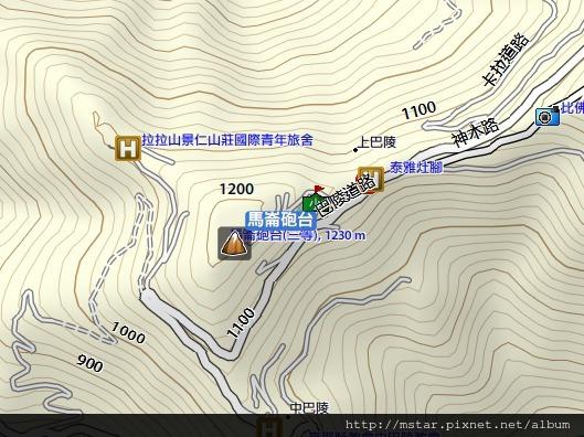 馬崙砲台(巴陵山) 位置