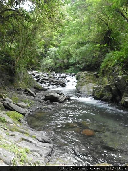 過溪點上游
