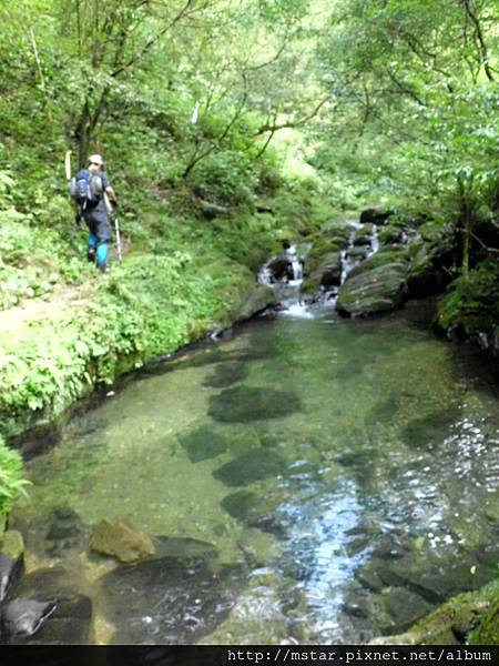 桶後溪上游源頭