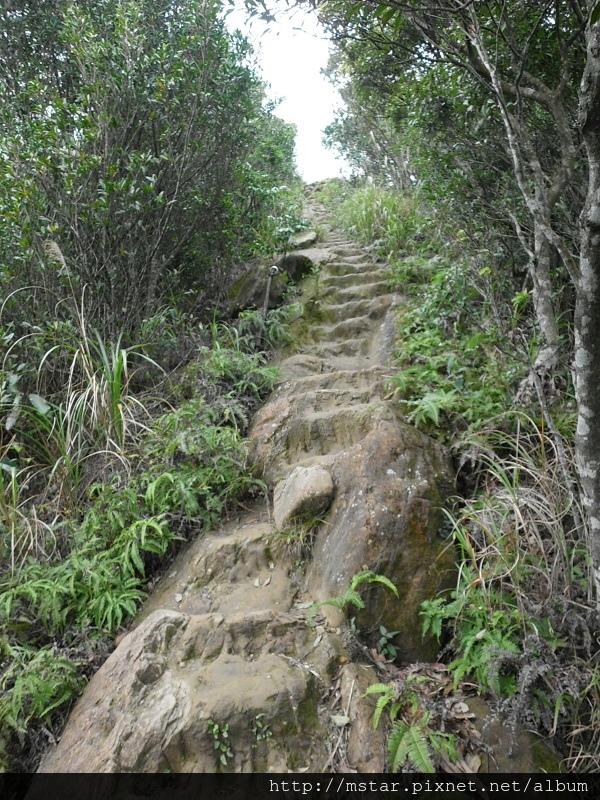 岩石鑿出階梯