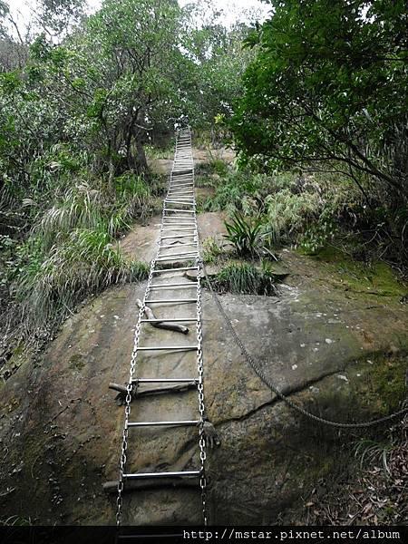 近垂直的鐵梯