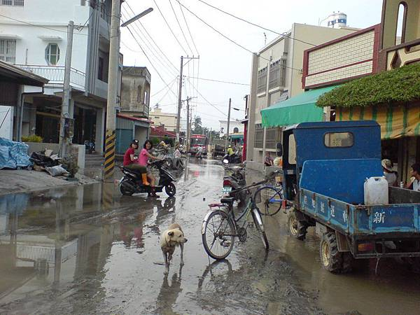積水的街道