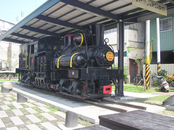 站前展示的糖鐵蒸氣車頭