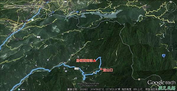 20130919曩嘴西南峰航跡圖a