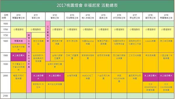 20170211桃園燈會活動表