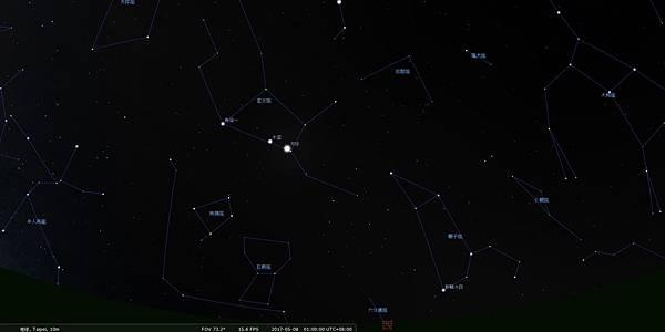 天文週報20170507-木星合月-1.jpg