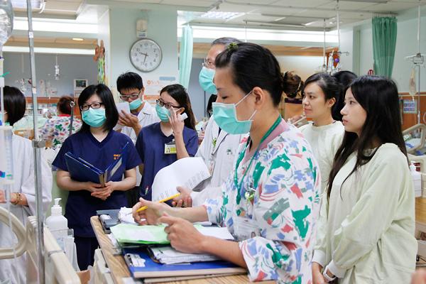 各醫事領域參與的團隊
