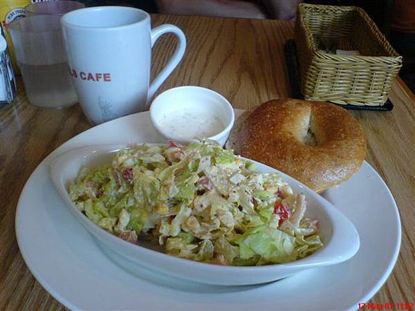 N.Y.BAGELS CAFE-美味的雞蛋沙拉.JPG