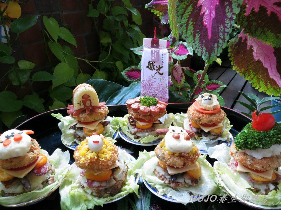 【健康養生飲食—上班族食譜】親子版手做可愛造型米漢堡~你有跟上流行嗎!