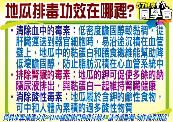 健康養生【飲食篇-12月當季蔬果】:地瓜是排毒第一名的最佳食物喔!!