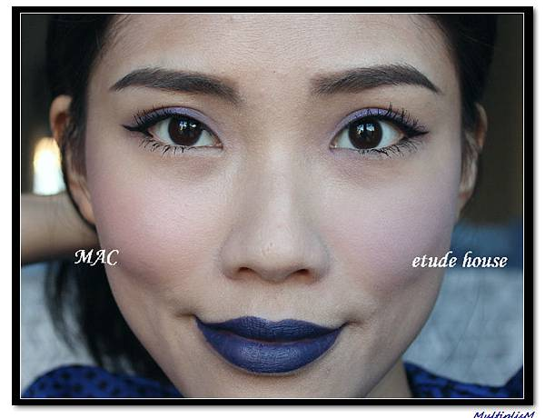2 mac vs etudehouse purple blush face.jpg