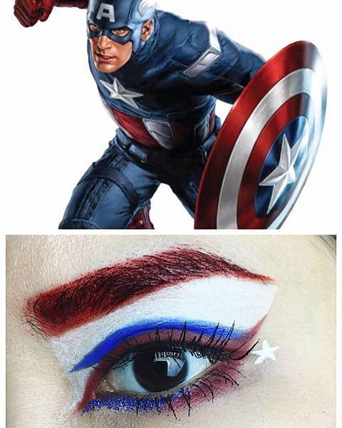avengers inspired makeup captain america.jpg