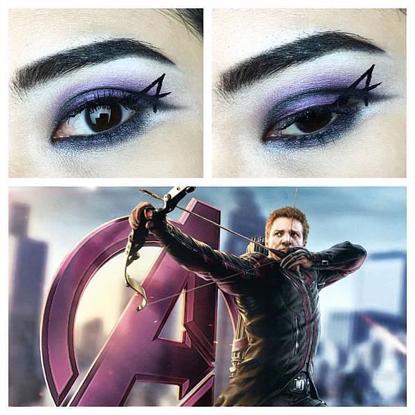 avengers inspired makeup hawkeye.jpg