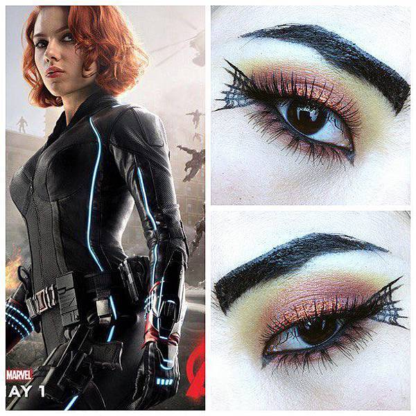 avengers inspired makeup black widow.jpg