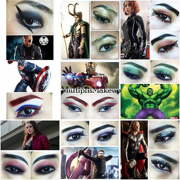 avengers inspired makeup marvel.JPG