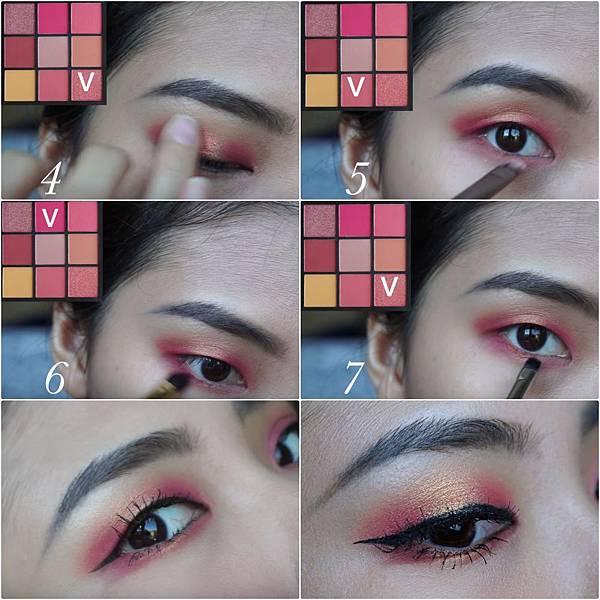 huda beauty obsessions eyeshadow coral eye makeup step2.jpg