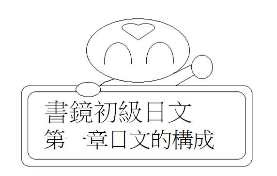 初級日文日文的構成1