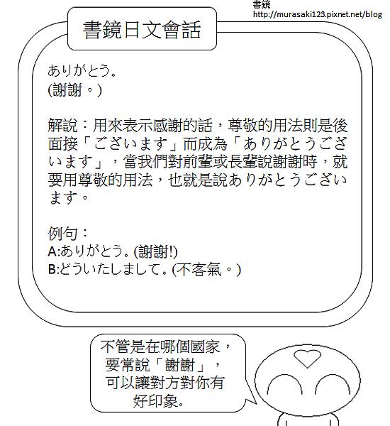 日文會話謝謝