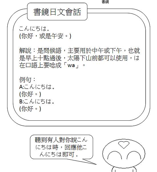 日文會話午安