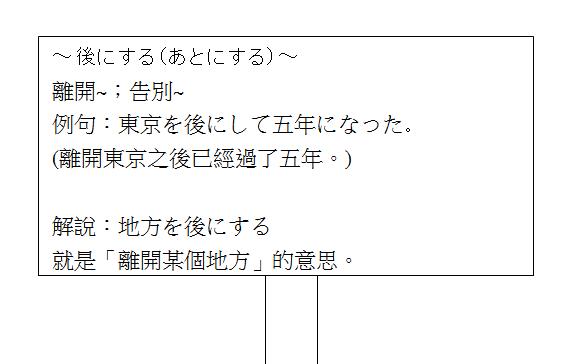 日文句型離開告別2