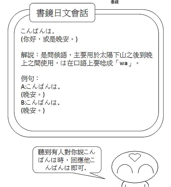 日文會話晚安1