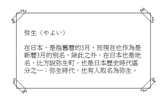 日文單字弥生2