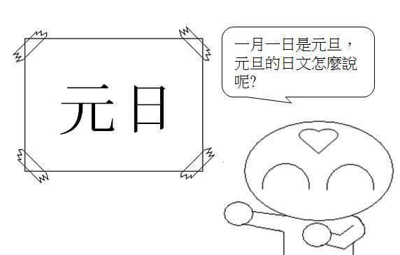 日文單字元旦1