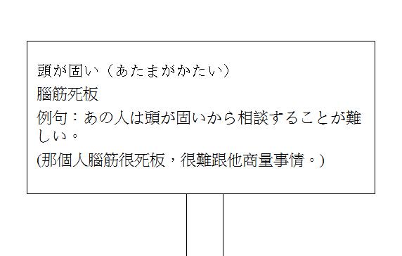 日文慣用語腦筋死板2
