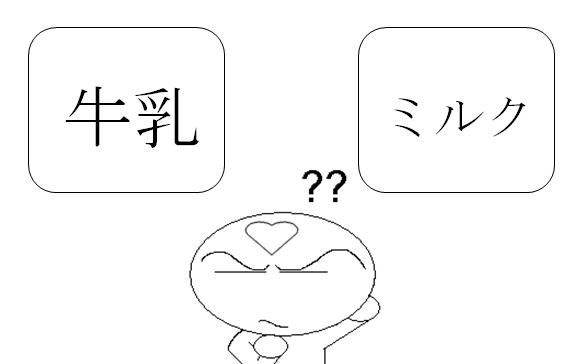 日文類義語牛乳