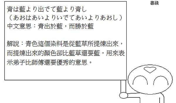 日文諺語青出於藍而勝於藍