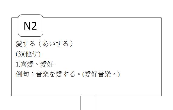 日文N2喜好愛慕3