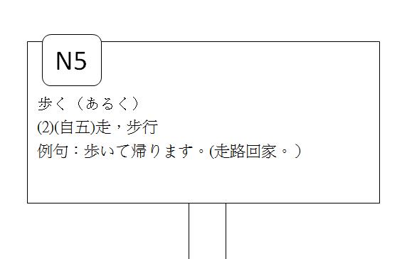 日文N5走步行3
