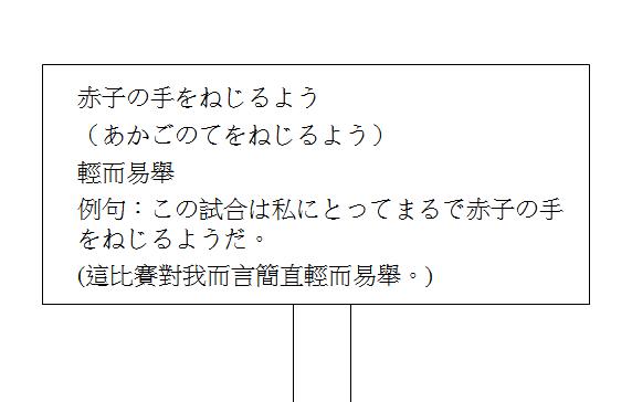 日文慣用語輕而易舉2
