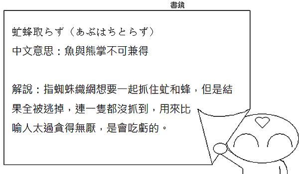 日文諺語魚與熊掌不可兼得