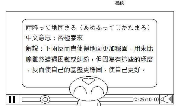 日文諺語否極泰來