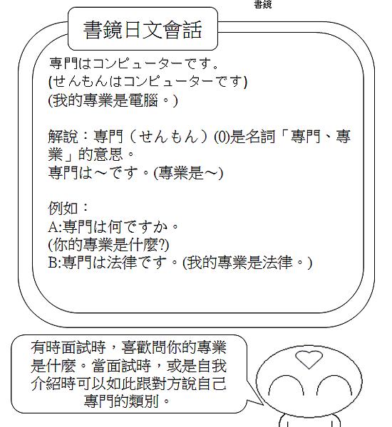 日文會話我的專業是電腦