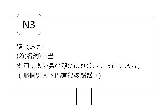 日文N3下巴3