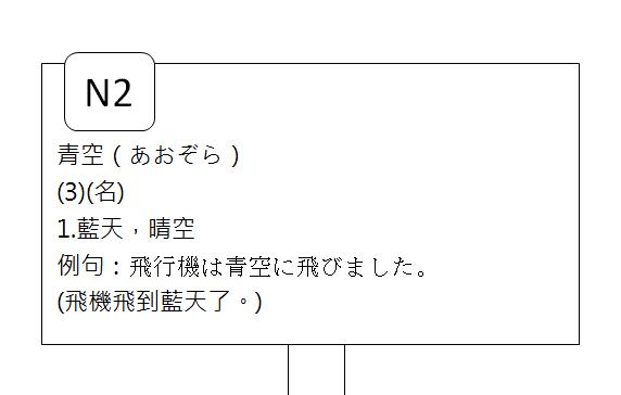日文N2晴空或露天3