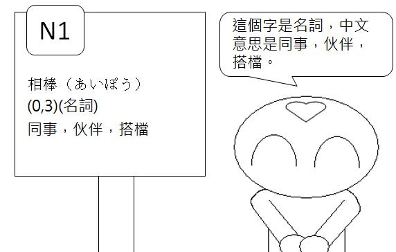日文N1同事搭檔2