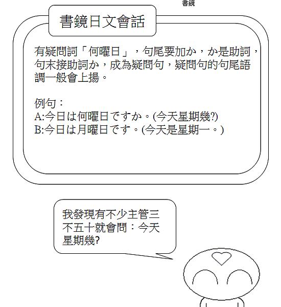 日文會話今天星期幾2