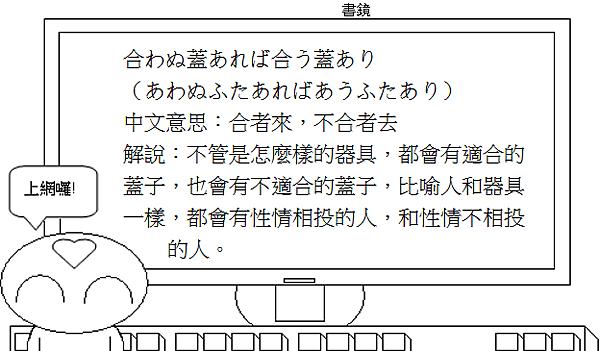 日文諺語合者來不合者去