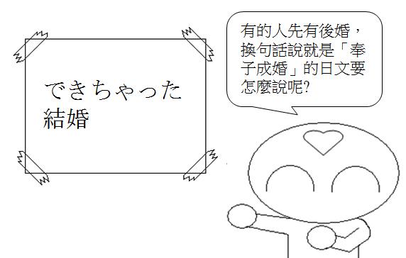 日文單字先有後婚奉子成婚1