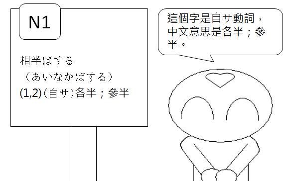 日文檢定N1各半參半2