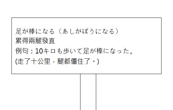 日文慣用語累得兩腿發直2