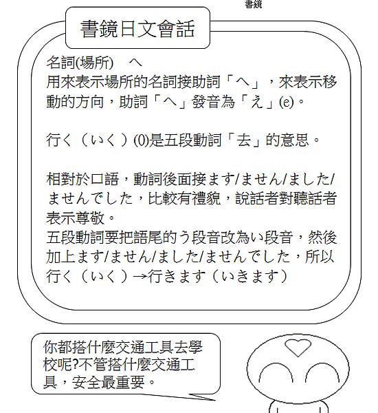 日文會話我每天搭捷運去學校2