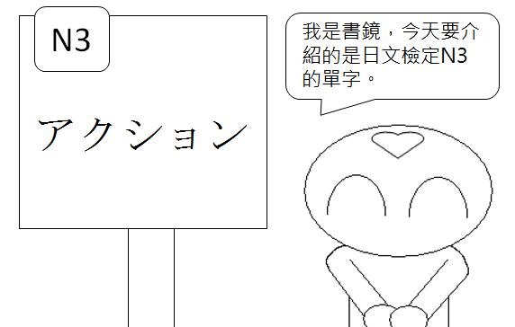 日文檢定N3單字動作行動1