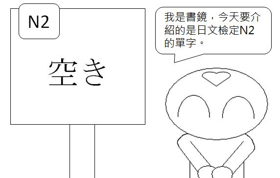 日文檢定N2空隙空閒空缺閒置1