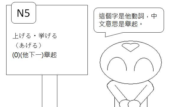 日文檢定N5單字舉起2