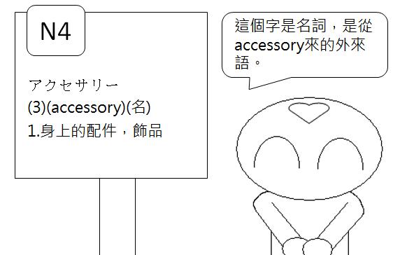 日文檢定N4配件飾品附件2