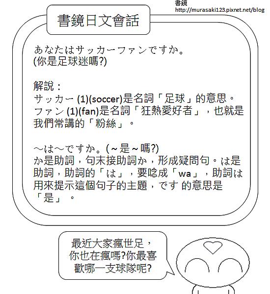 日文會話你是足球迷嗎